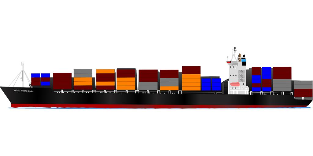 Figure 1. Shipping cargo across the globe (source: Pixabay)